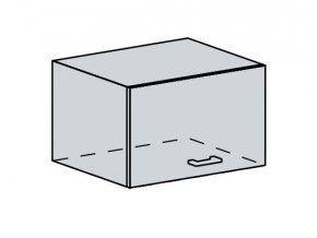 60VP h. skříňka výklopná ANASTASIA bříza