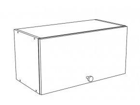 60VP horní skříňka s výklopem EKO bílá