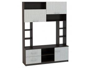 TV stolek s nástavcem TB-110 MARTA dub belfort/wenge