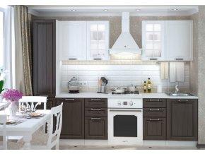 Kuchyně PRAGA 220 bílá/wenge