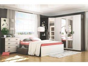 Ložnice PRAGA (postel 160 se zas., skříň 4D a komoda 4S)