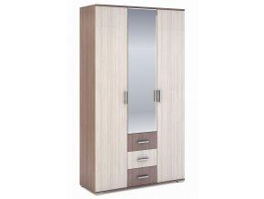 Šatní skříň 3-dveřová ROCHEL 45 cm jasan šimo