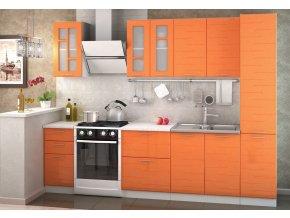 Kuchyně TECHNO 220 oranžová metalic
