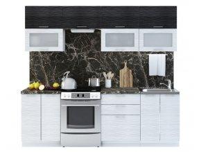Kuchyně VALERIA II 240 bk/black/white stripe