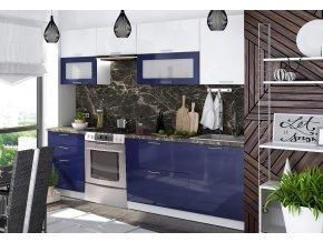 Kuchyně VALERIA 260 modrá/bílý lesk