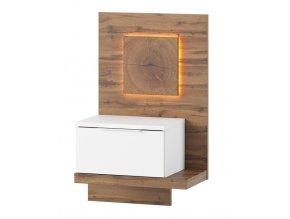 Noční stolek LIVORNO 69 pravý dub wotan/bílá