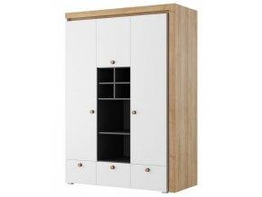 Šatní skříň 3-dveřová RIVA 01