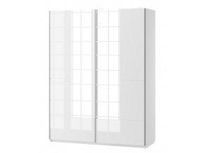 Šatní skříň se zrcadlem SELENE 30 bílá lesk