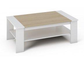 Konferenční stolek BARI bílá/sonoma