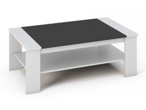 Konferenční stolek BARI bílá/černá