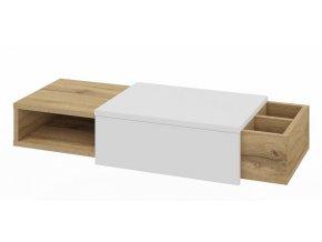 Konzolový stolek ROBIN dub wotan/bílá mat
