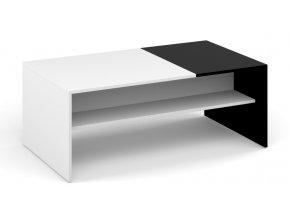 Konferenční stolek BELT bílá/černá