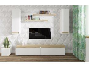 Obývací stěna IDAHO dub sonoma/bílá mat