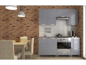 Kuchyňská linka Despacito KRF 180 šedý lesk