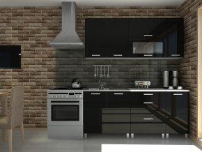 Kuchyňská linka Timothy RLG 180 černý lesk