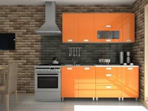 Kuchyňská linka Timothy RLG 180 oranžový lesk