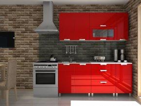 Kuchyňská linka Timothy RLG 180 červený lesk