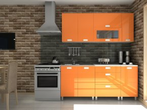 Kuchyňská linka Timothy KRF 180 oranžový lesk