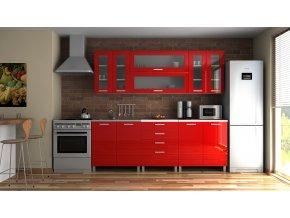 Kuchyňská linka Eginger MDR 220 červený lesk