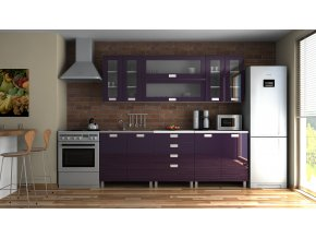 Kuchyňská linka Eginger MDR 220 fialový lesk