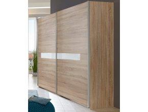 Šatní skříň s posuv. dveřmi PAMELA 864 řezaný dub