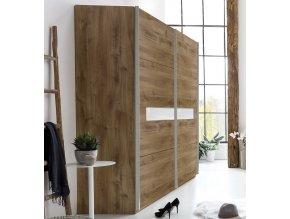 Šatní skříň s posuv. dveřmi PAMELA 864 divoký dub