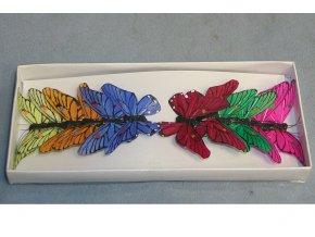 Dekorační motýl 5.5cm, mix barev. Cena za 12ks.