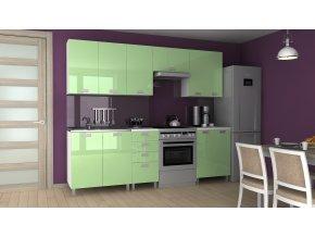 Kuchyňská linka Korry MDR 180/240 zelený lesk