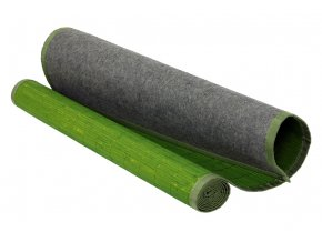 Rohož za postel bambusová, barva zelená