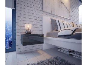 Noční stolek MATURIN šedá/šedá lesk