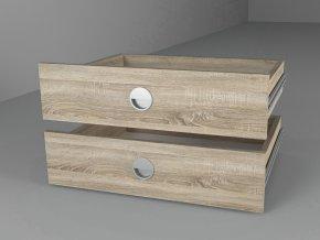 Zásuvky (2ks) 43x60 ke skříni dub sonoma