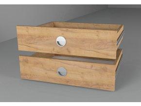 Zásuvky (2ks) 43x60 ke skříni kraft zlatý