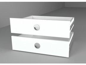 Zásuvky (2ks) 43x60 ke skříni bílá diamant