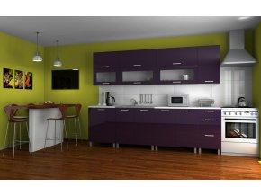 Kuchyňská linka Saleri RLG 260 fialový lesk
