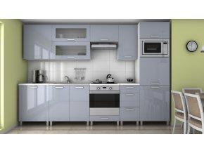 Kuchyňská linka Roksana RLG 300 šedý lesk