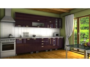 Kuchyňská linka Granada RLG 300 fialový lesk