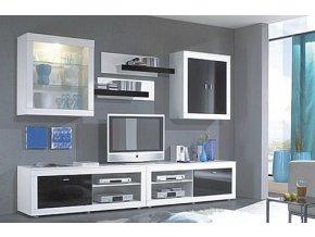 Obývací stěna RIVA II černá/bílá