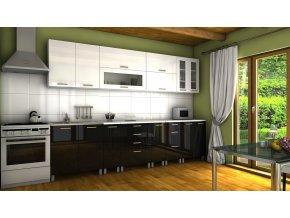 Kuchyňská linka Granada KRF 300 bílý/černý lesk