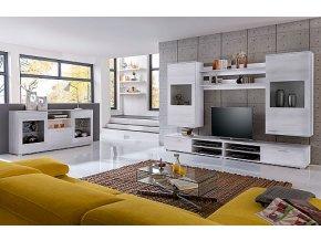 MALAGA obývací stěna sonoma/bílá