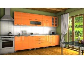 Kuchyňská linka Granada MDR 300 oranžový lesk