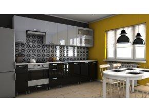 Kuchyňská linka Biodera KRF 300 šedý/černý lesk