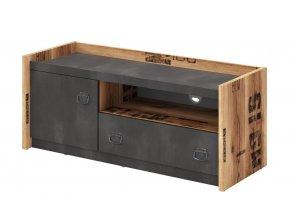 Televizní stolek DRAKE 10 smrk/steel