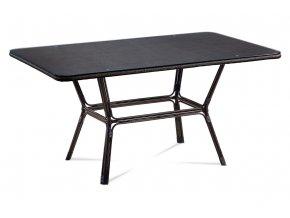 Zahradní stůl, kov hnědý, plast černý