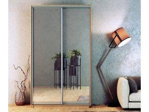 Šatní skříň STANDARD 150 sonoma/zrcadlo