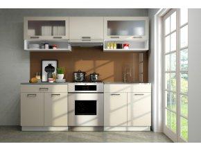 Kuchyňská linka Gloss 160/220 vanilka lesk