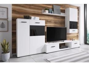 Obývací stěna SORSO bílá/černá
