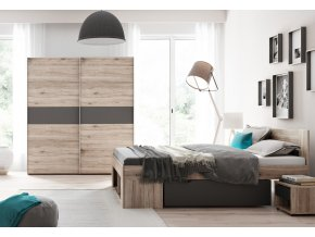 Ložnice ROMA (postel 160, skříň, 2 stolky)