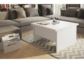 Jídelní/konferenční stolek LORETO 1 bílá