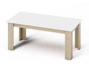Konferenční stolek KANO sonoma/bílá mat