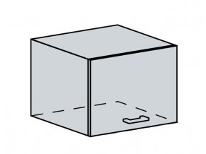 50VP h. skříňka výklopná VALERIA bk/bílá lesk
